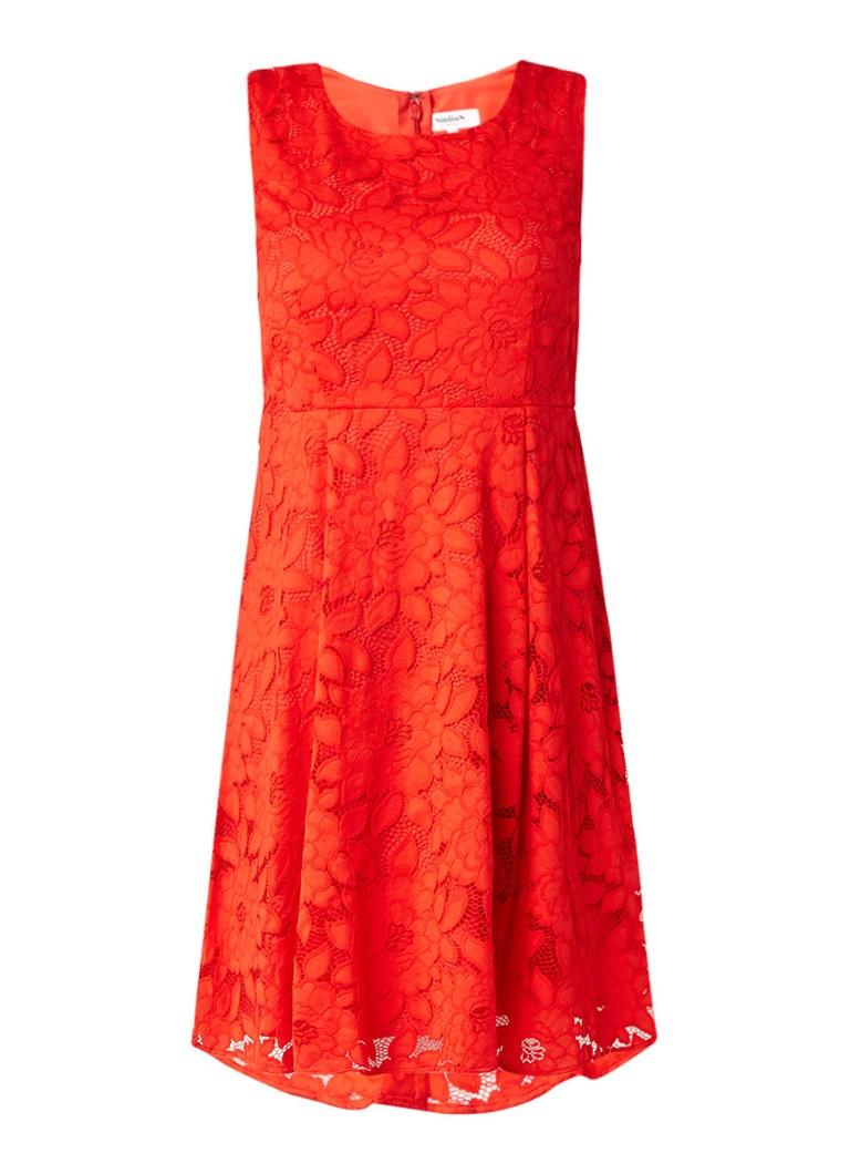 Studio 8 Tulip A-lijn jurk van kant rood