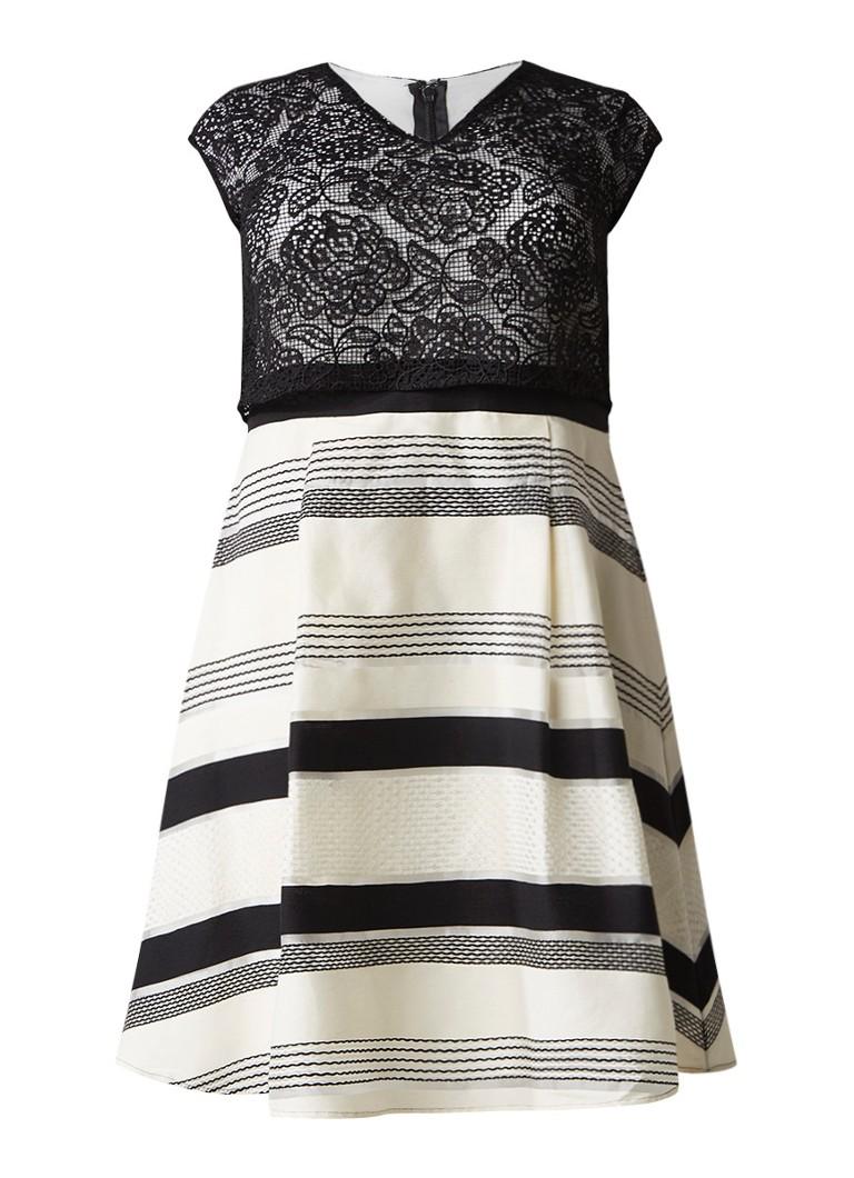 Studio 8 Coco A-lijn jurk met overslag van kant ivoor