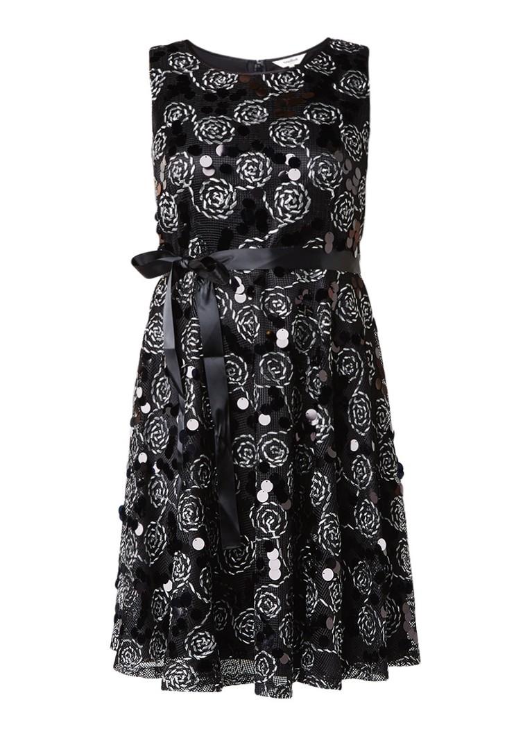 Studio 8 Carrine jurk met pailletten en tapework zwart