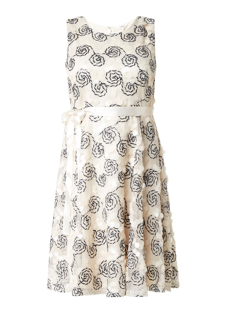 Studio 8 Carrine A-lijn jurk met pailletten en tapework ivoor