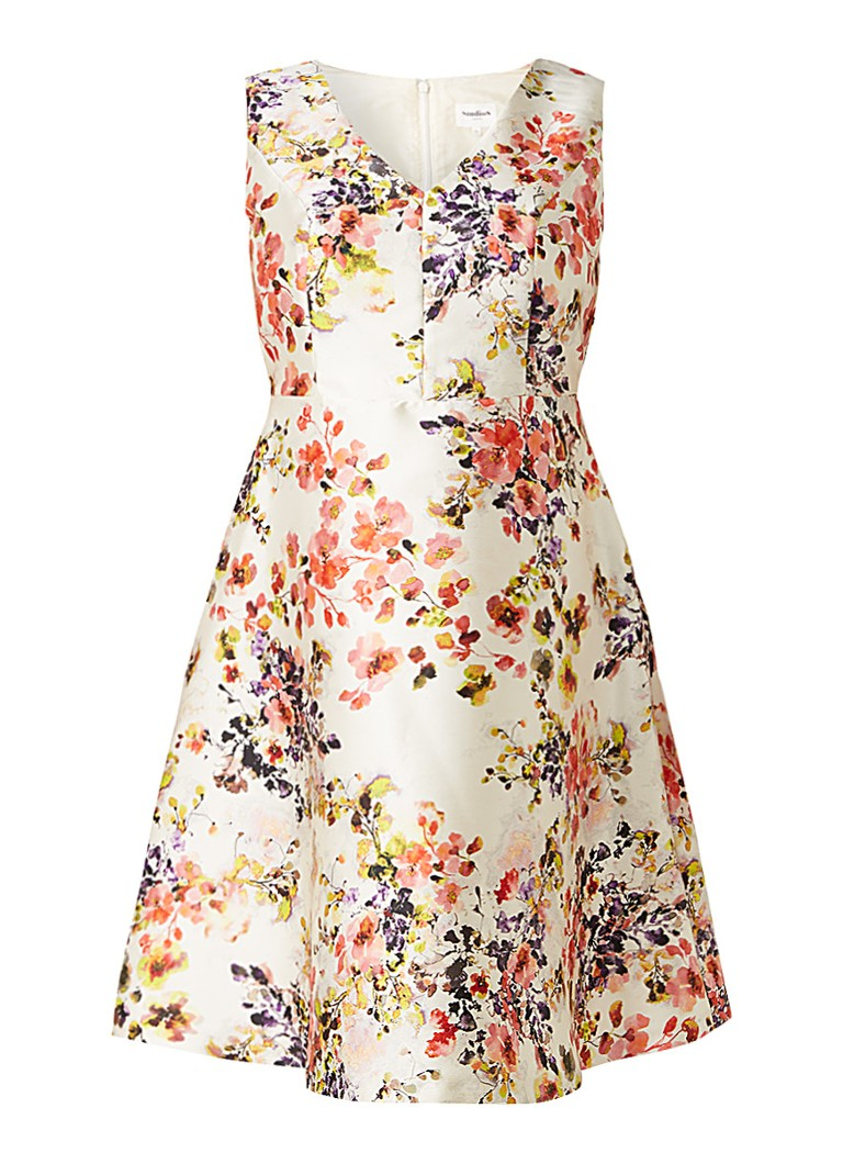 Studio 8 Jennifer A-lijn jurk met bloemendessin multicolor