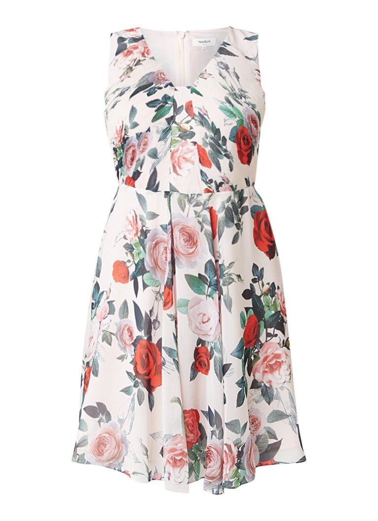 Studio 8 Amily A-lijn jurk met bloemenprint lichtroze