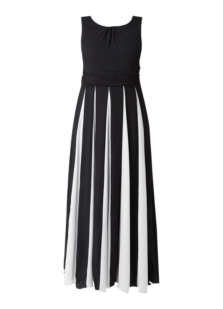 Studio 8 Bo maxi-jurk met contrasttint zwart