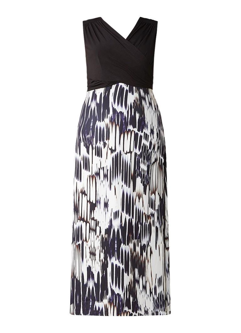 Studio 8 Federica maxi-jurk met draperie en print zwart