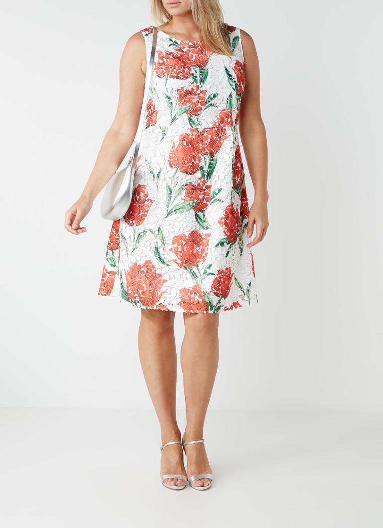 Studio 8 Logan A-lijn jurk van gebloemd guipure kant multicolor
