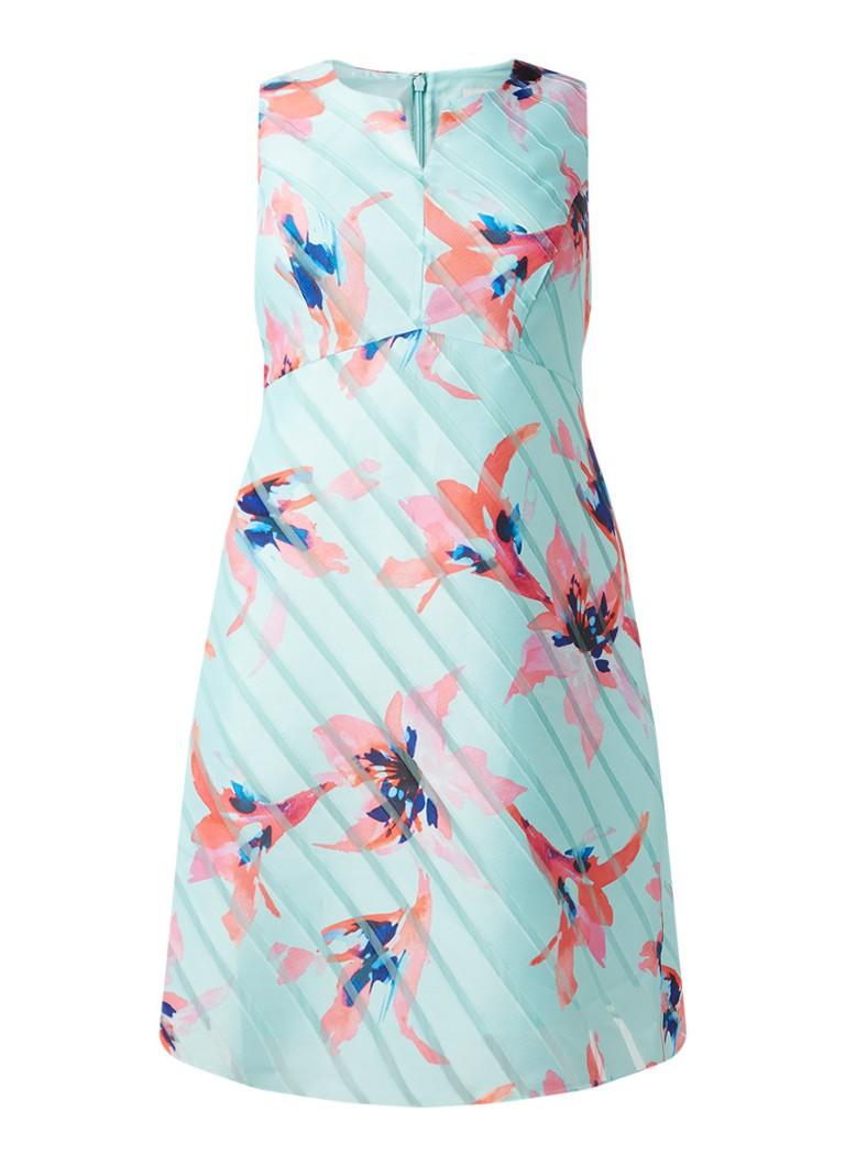 Studio 8 Zannah A-lijn jurk met bloemendessin mint