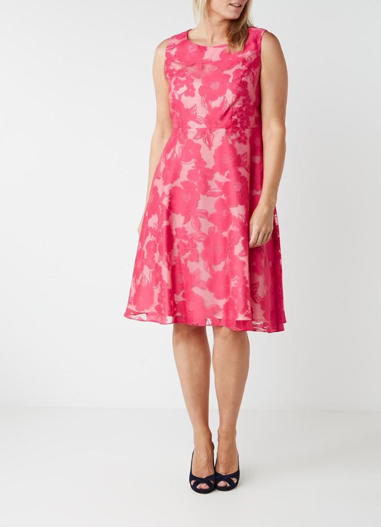 Studio 8 Ellen A-lijn jurk met burn-out dessin roze