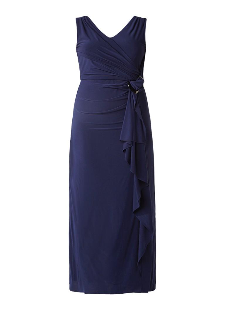 Studio 8 Pippa maxi-jurk met draperie donkerblauw