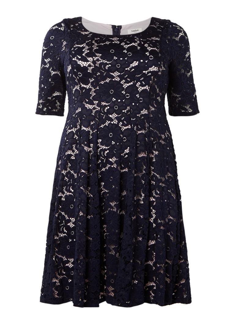 Studio 8 Viola A-lijn jurk van kant donkerblauw