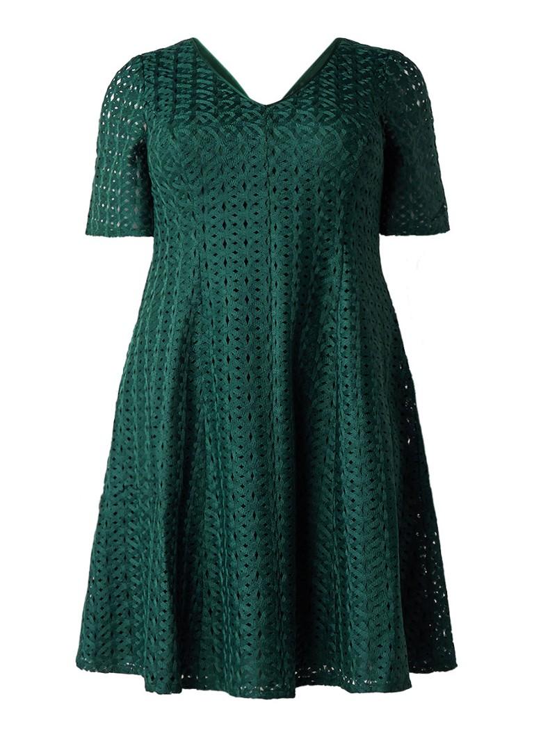 Studio 8 Tess A-lijn jurk met tapework donkergroen