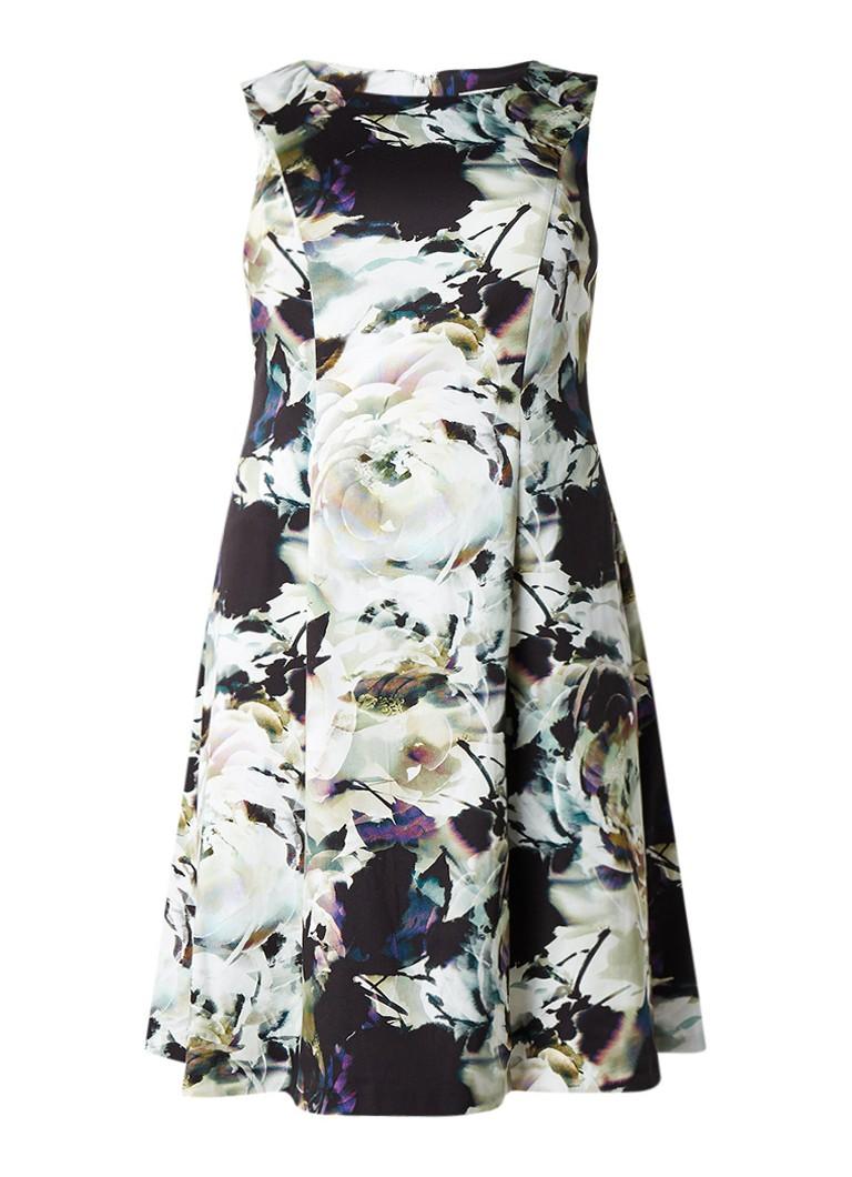 Studio 8 Chantelle A-lijn jurk met bloemendessin lindegroen