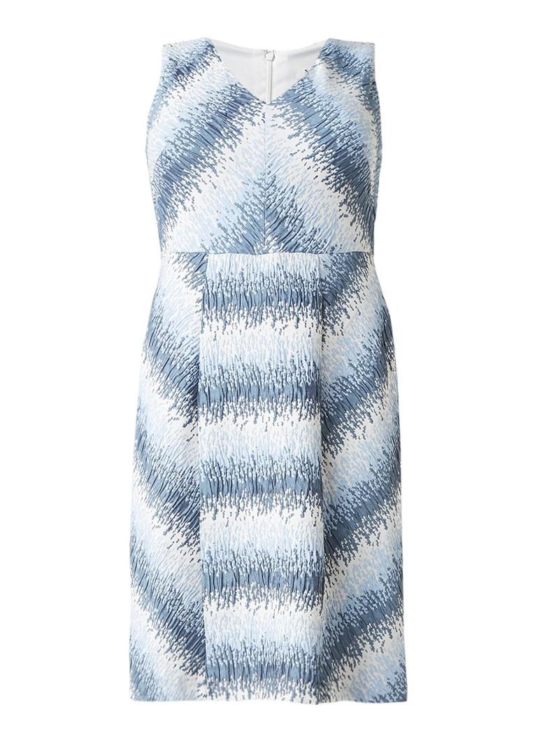 Studio 8 Theola A-lijn jurk met jacquarddessin lichtblauw