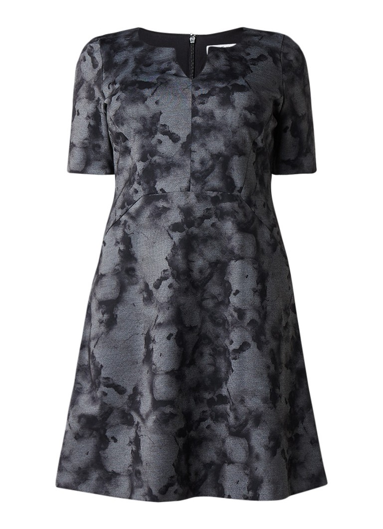 Studio 8 Demi A-lijn jurk van jersey met dessin grijs