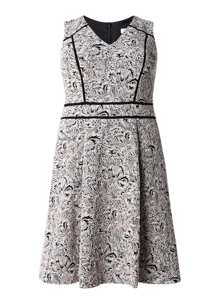 Studio 8 Alexus A-lijn jurk met jacquarddessin lichtroze