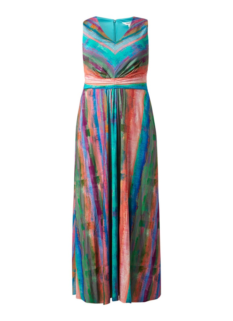 Studio 8 Kady maxi-jurk met V-hals en print multicolor
