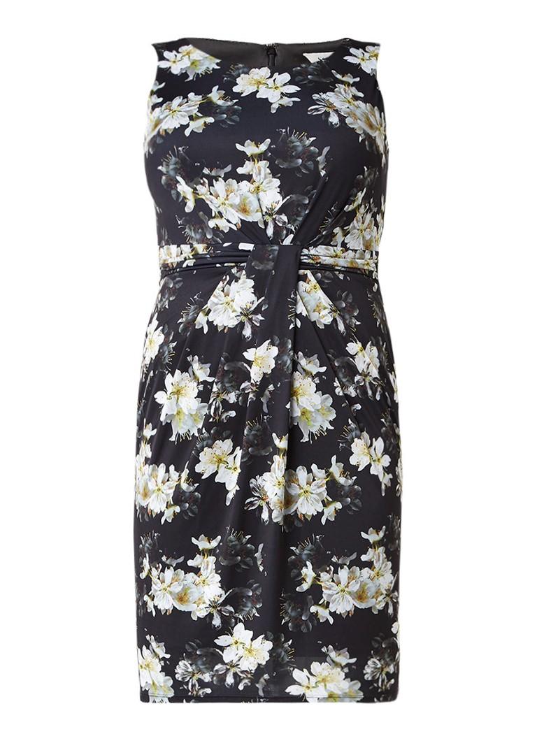 Studio 8 Leonie jurk met plooidetails en bloemendessin zwart