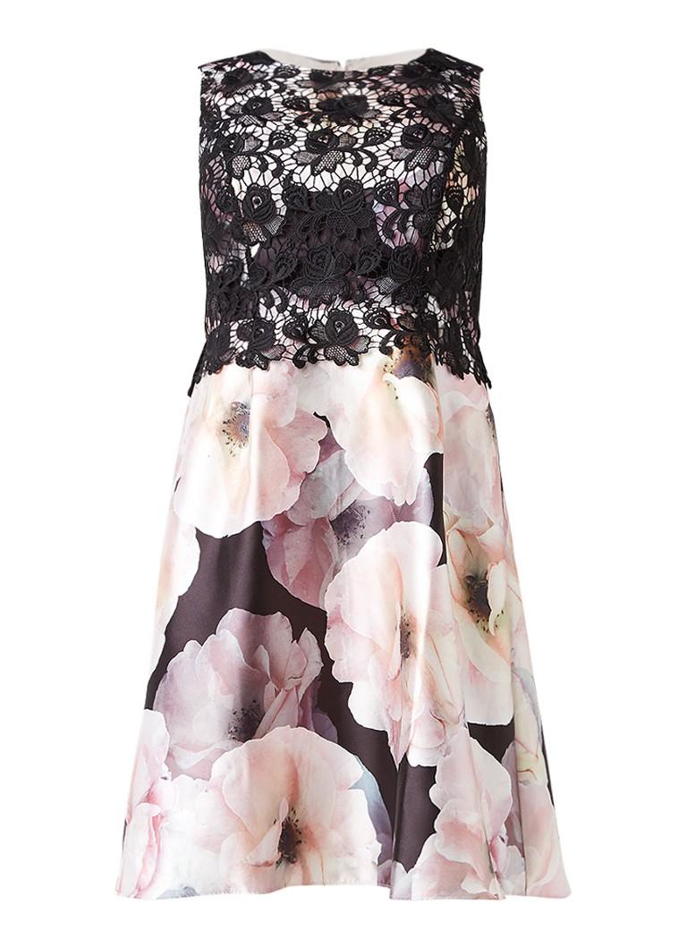 Studio 8 Abigail A-lijn jurk met kant en bloemendessin lichtroze