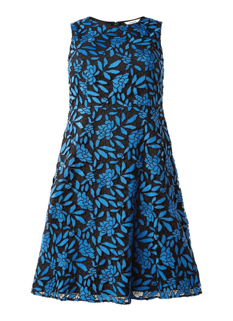 Studio 8 Natalie jurk van guipure kant kobaltblauw