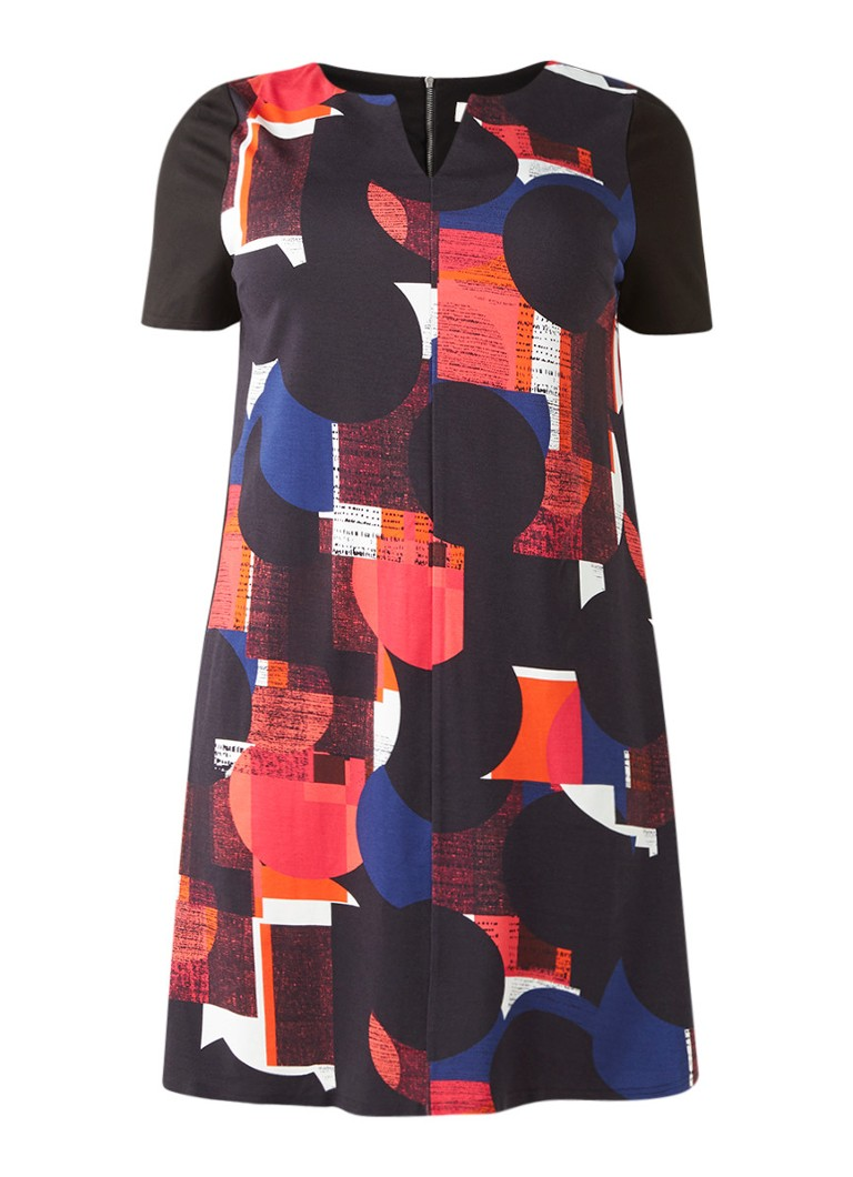 Studio 8 Eloise midi-jurk van stevige stretchjersey blauw