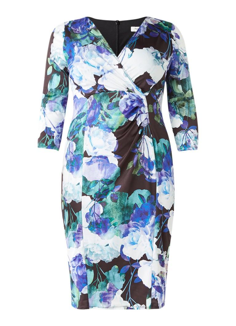 Studio 8 Willow jurk met overslag en bloemdessin zwart