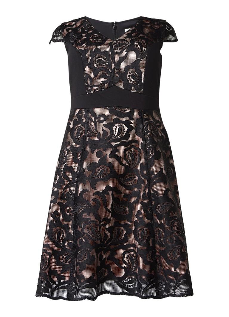 Studio 8 Cleo A-lijn jurk met broderie zwart
