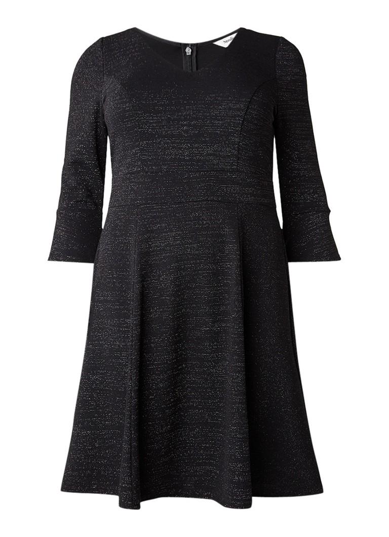 Studio 8 Rochelle A-lijn jurk met lurex zwart