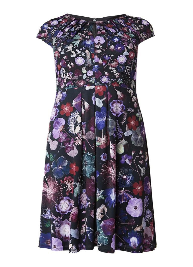 Studio 8 Emma A-lijn jurk met bloemenprint en keyhole paars