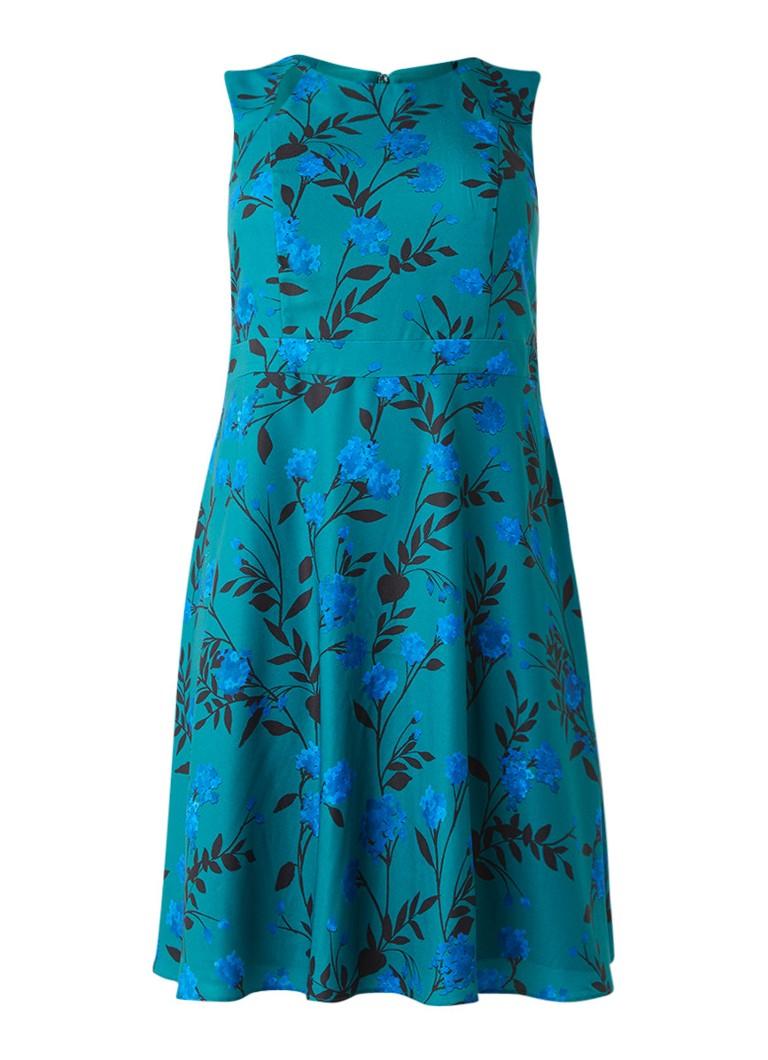 Studio 8 Charlie A-lijn jurk met cut-outs en bloemendessin zeegroen