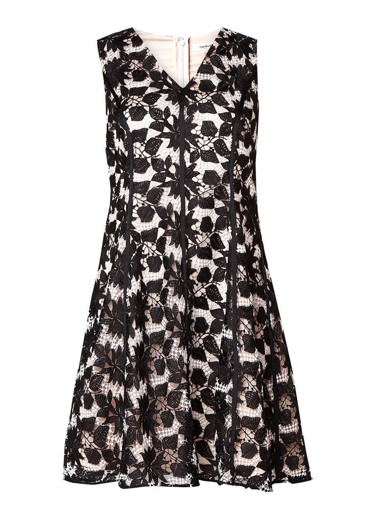 Studio 8 Bay A-lijn jurk van guipure kant zwart