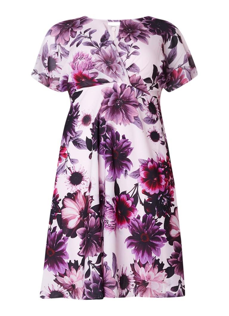 Studio 8 Rebecca A-lijn jurk met bloemendessin paars