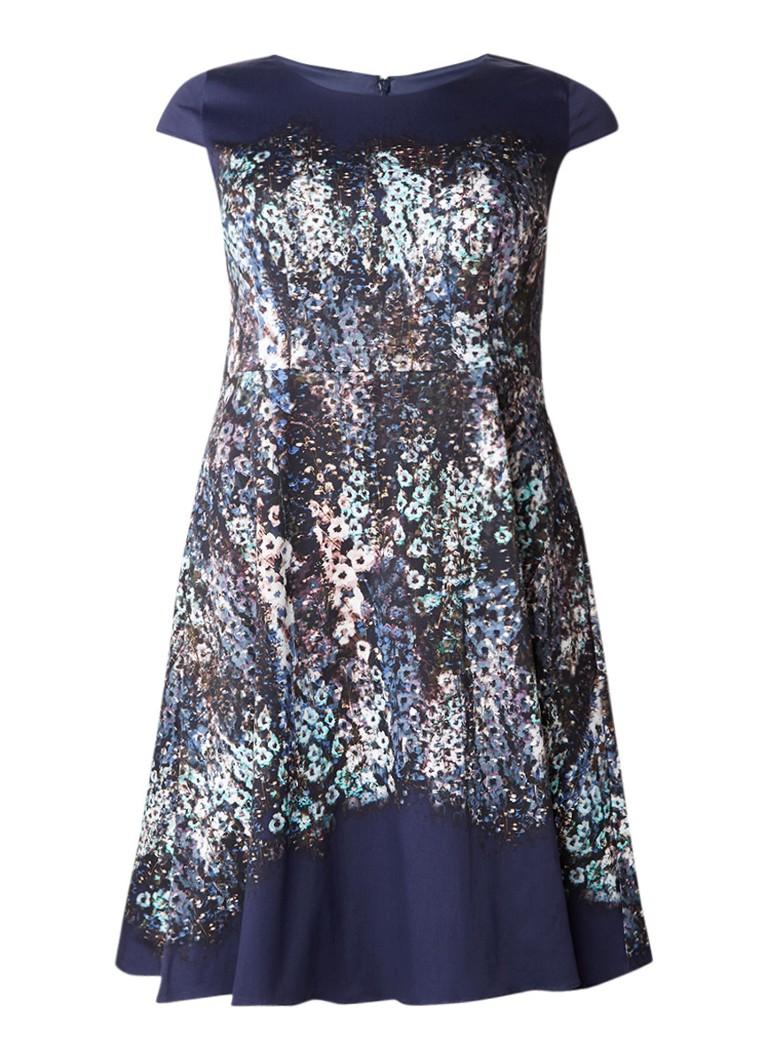 Studio 8 Marissa A-lijn jurk in katoenblend met print donkerblauw