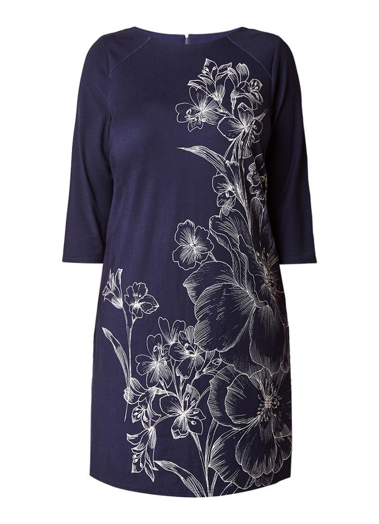 Studio 8 Aubrey jersey midi-jurk met gebloemd dessin donkerblauw