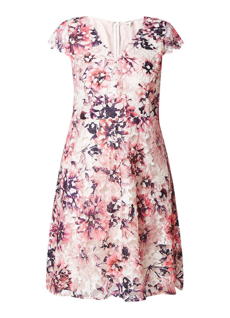 Studio 8 Joselyn A-lijn jurk van kant met bloemendessin roze