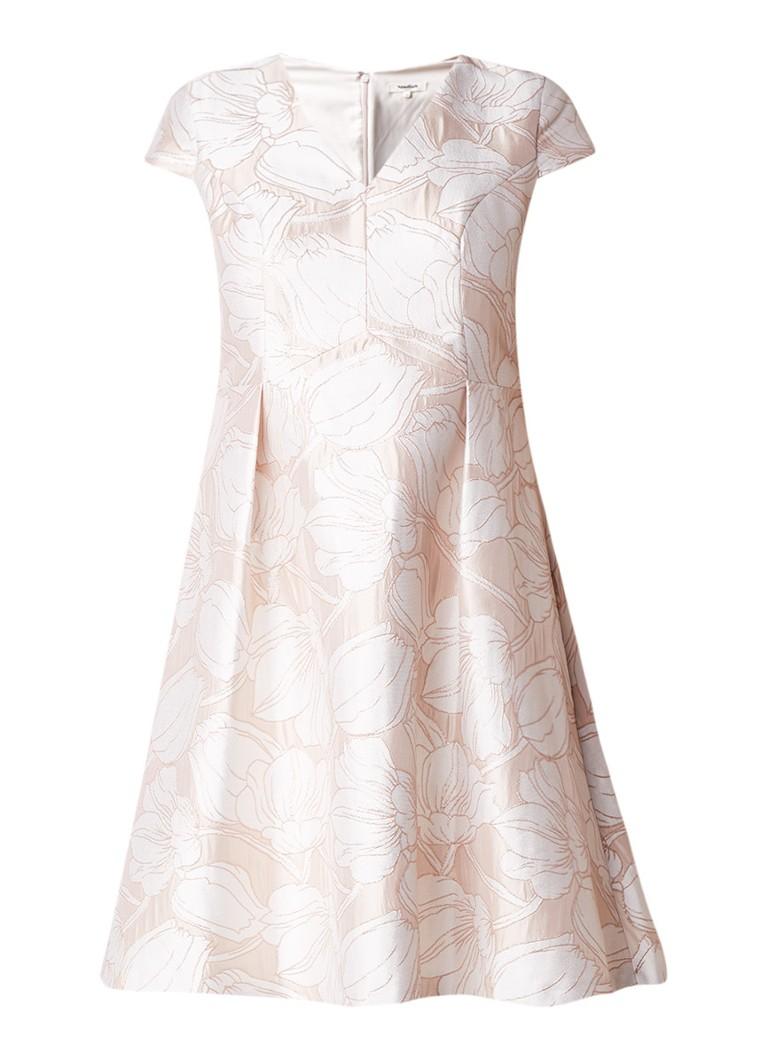 Studio 8 Loretta A-lijn jurk met bloemendessin en glansdraad lichtroze