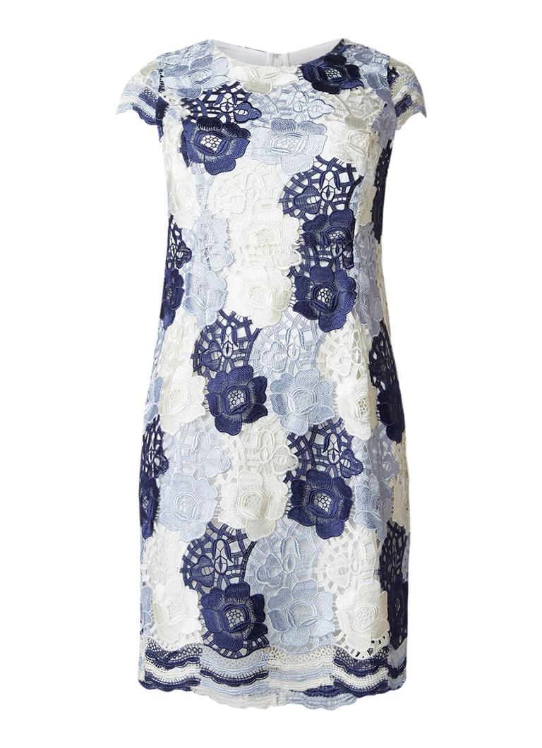 Studio 8 Megan jurk met overlay van gebloemd kant donkerblauw