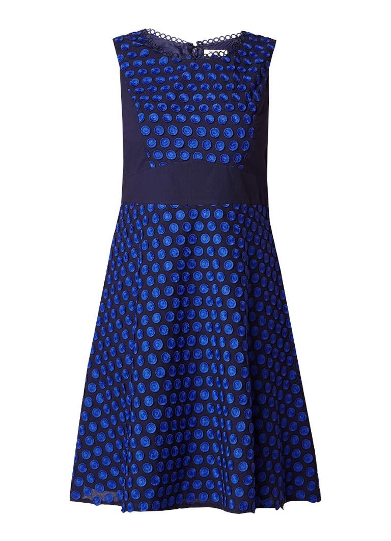Studio 8 Eden A-lijn jurk met applicaties kobaltblauw