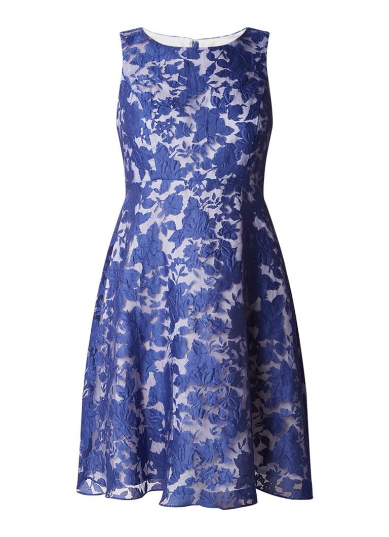 Studio 8 Kew A-lijn jurk van gebloemd kant kobaltblauw