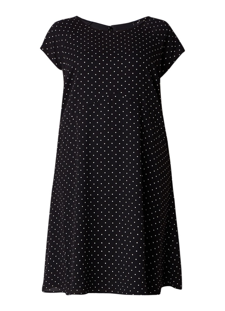 Studio 8 Maria A-lijn jurk met bloemendessin zwart