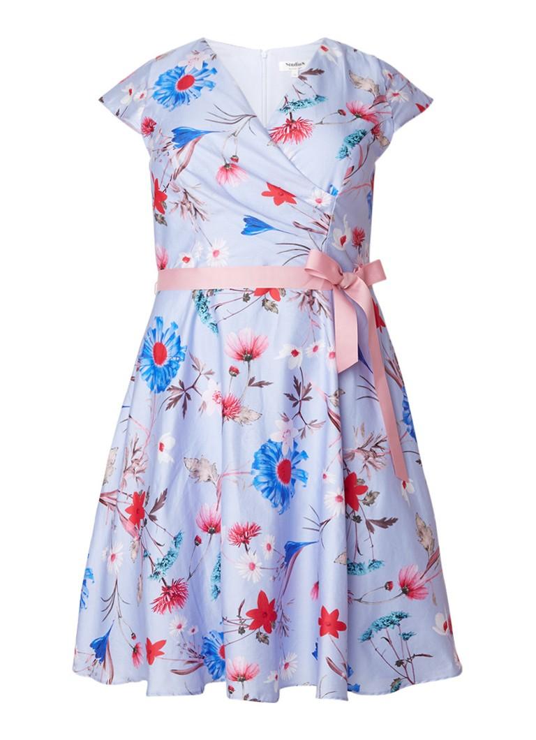 Studio 8 Millicent A-lijn jurk met petticoat en bloemendessin lila