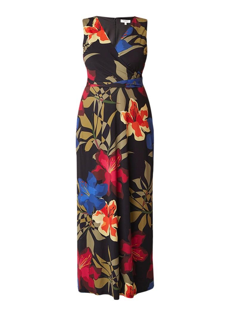 Studio 8 Bee maxi-jurk met strikceintuur en bloemendessin zwart