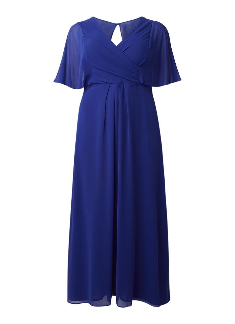Studio 8 Opal maxi-jurk van crêpe met overslag kobaltblauw