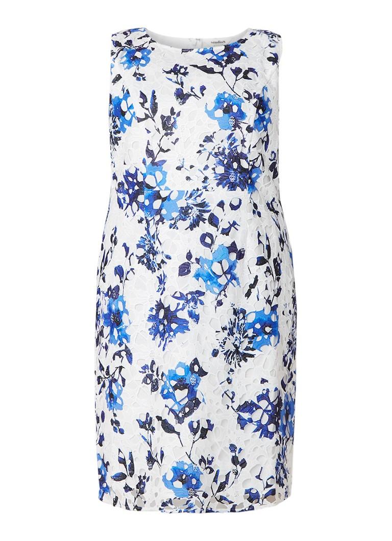 Studio 8 Rochelle jurk van kant met bloemendessin blauw