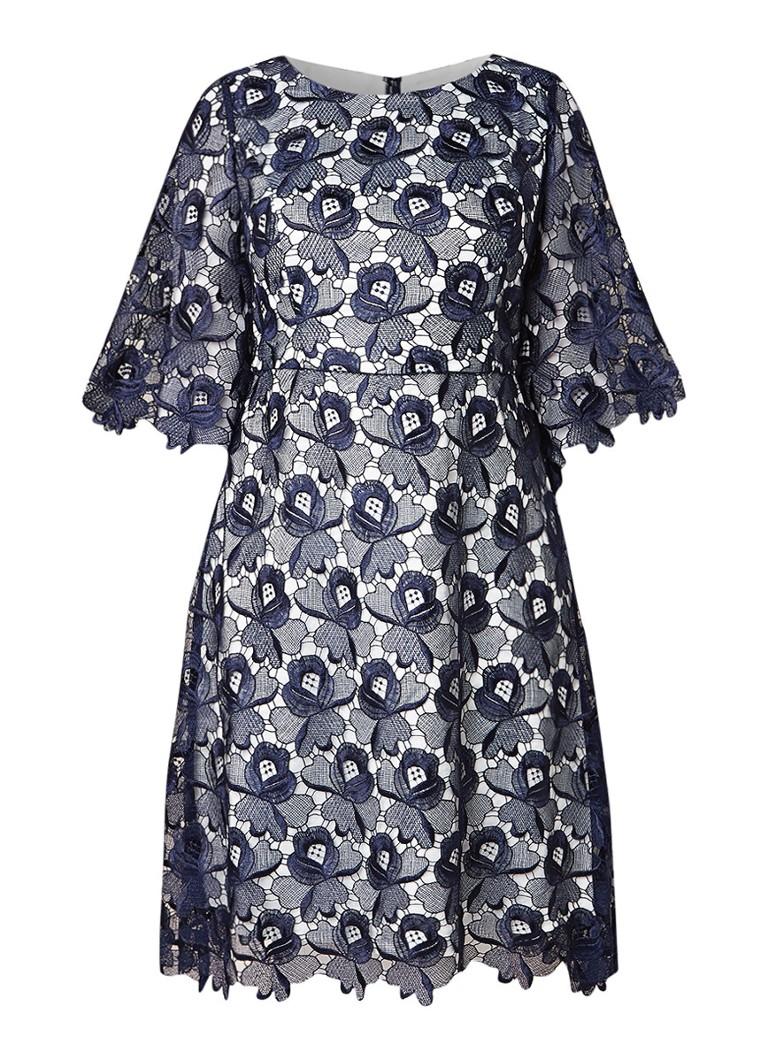 Studio 8 Tilly A-lijn jurk van kant donkerblauw