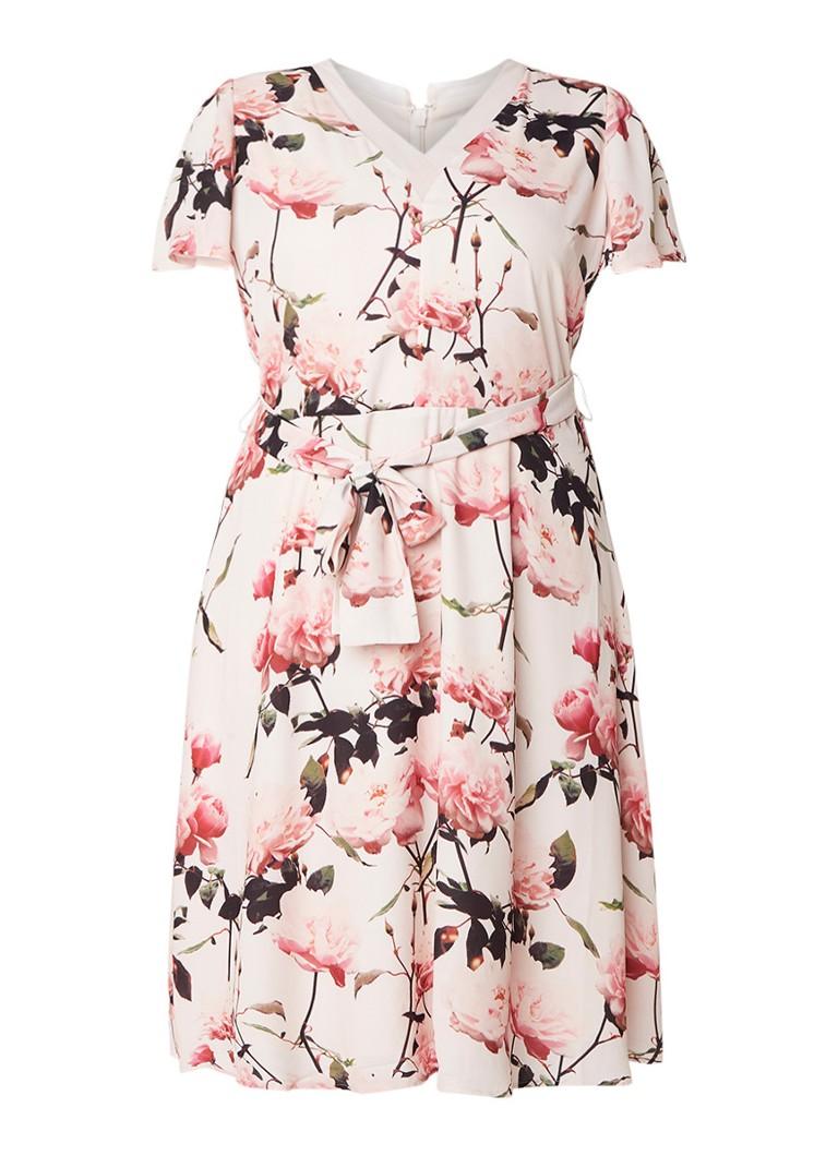 Studio 8 Calista jurk met bloemendessin roze