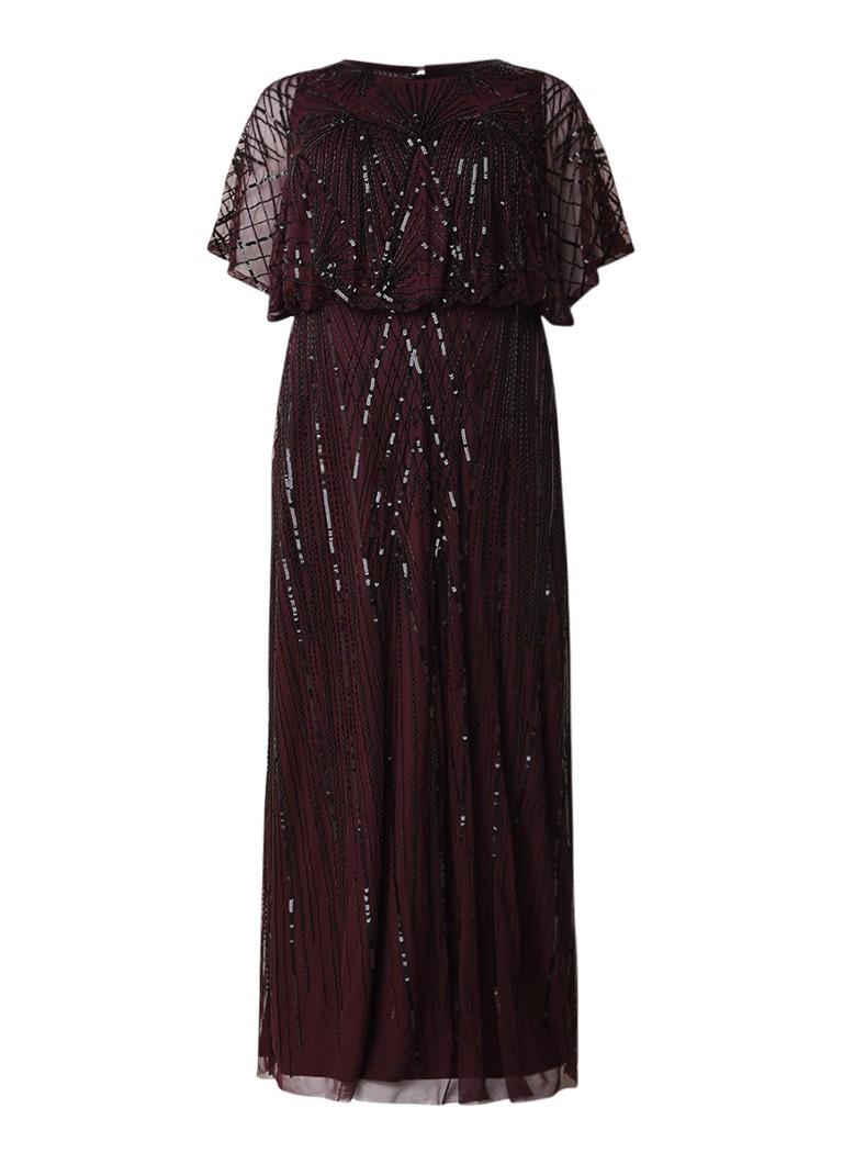 Studio 8 Phaedra maxi-jurk met kralenapplicatie aubergine