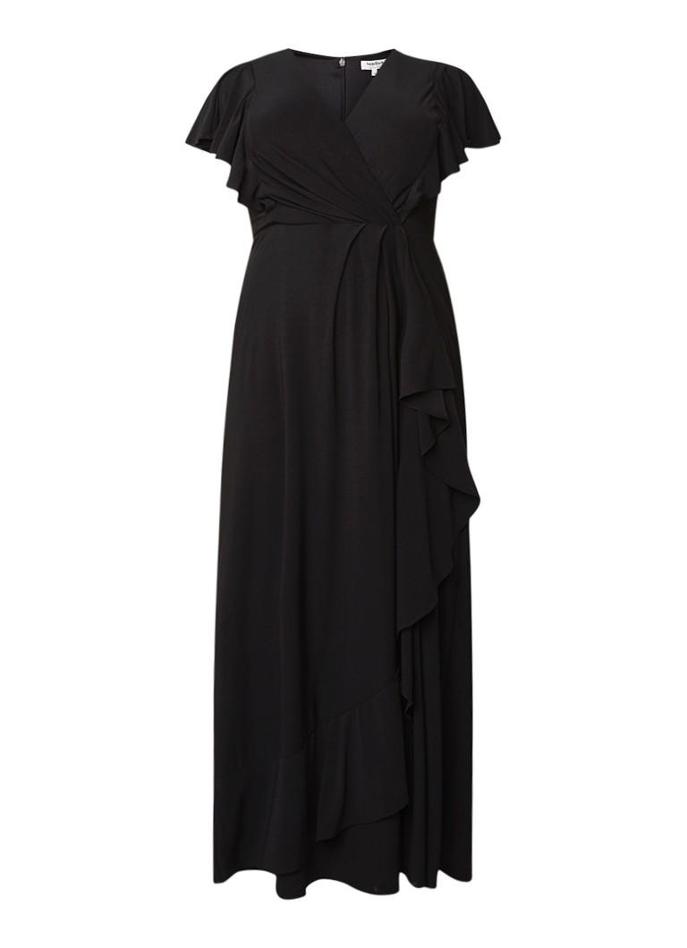 Studio 8 Camilla maxi-jurk van jersey met volants zwart