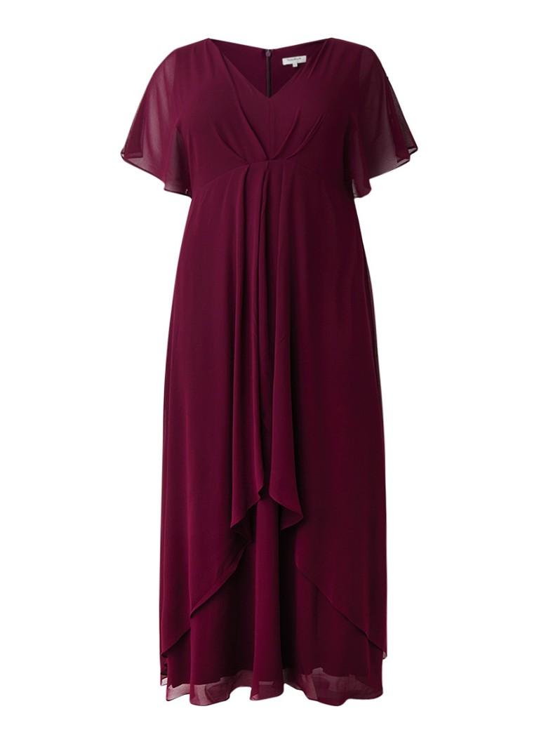 Studio 8 Nova maxi-jurk van chiffon met overlay paars