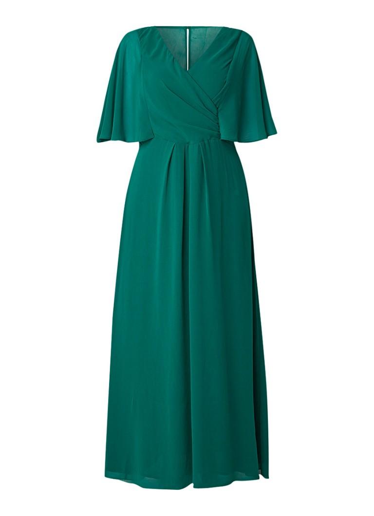 Studio 8 Opal maxi-jurk van crêpe met vleermuismouw donkergroen