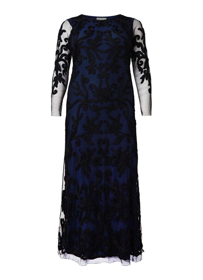 Studio 8 Jenna maxi-jurk van mesh met tapework donkerblauw