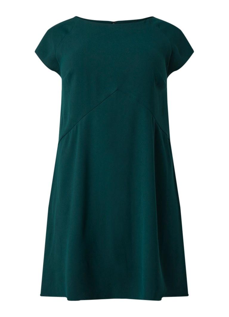 Studio 8 Julia Swingdress midi-jurk met kapmouw groen